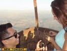 Wedding proposal on Balloon Ride