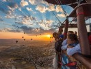Beautiful landscapes on colorful hot air balloons it's a extraordinary event